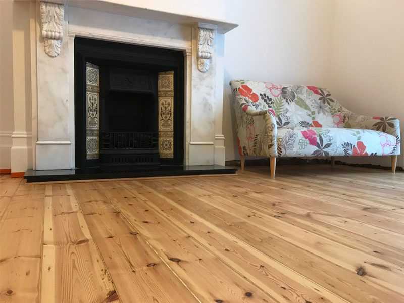 Original Victorian pine floorboards