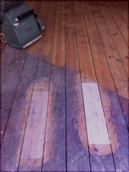 White Washed Floor London Wire Brush Distressed Wood Floor